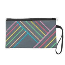 Pattern Color Stripes Wristlet