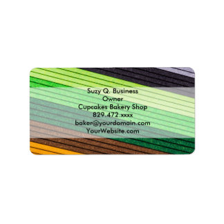 pattern colored paper label