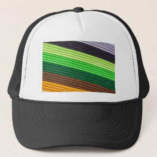 pattern colored paper trucker hat