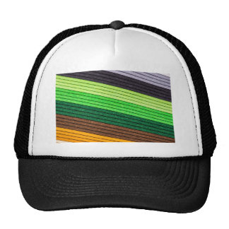 pattern colored paper trucker hat