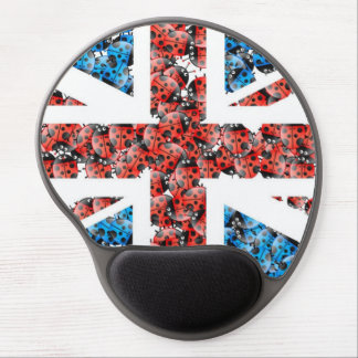 Pattern Colorful Art Lady Bug Red Blue Flag Gel Mouse Pad