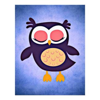 pattern colorful friend family office home art owl letterhead