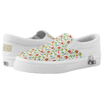 PATTERN COLORFUL  OWLS AND FLOWERS Slip-On SNEAKERS