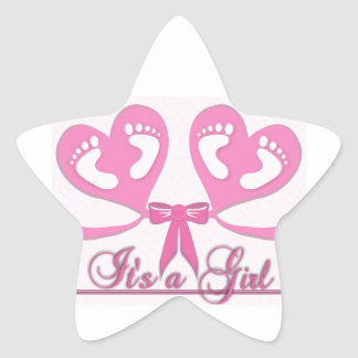 Pattern Colorful Shower Party Peace Baby Girl Star Sticker