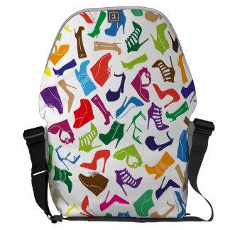 Pattern colorful Women's shoes Courier Bag
