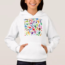 Pattern colorful Women's shoes Hoodie