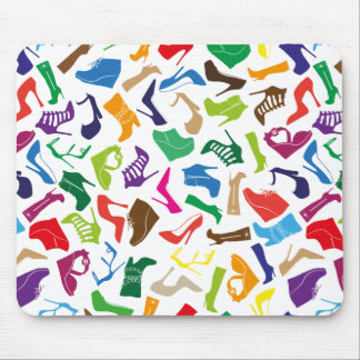 Pattern colorful Women's shoes Mouse Pad