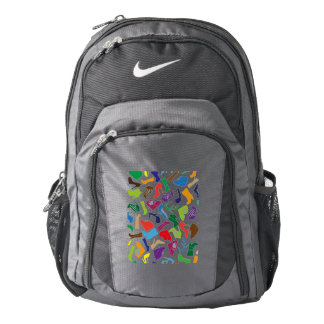 Pattern colorful Women's shoes Nike Backpack