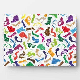 Pattern colorful Women's shoes Plaque