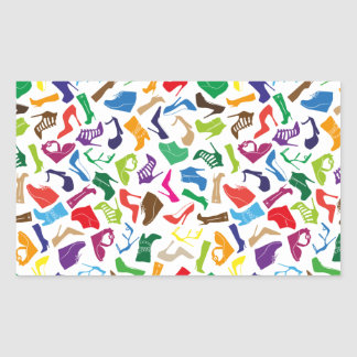 Pattern colorful Women's shoes Rectangular Sticker
