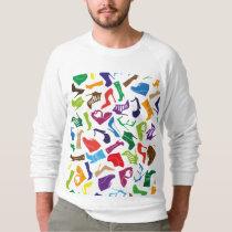 Pattern colorful Women's shoes Sweatshirt