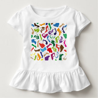 Pattern colorful Women's shoes Toddler T-shirt