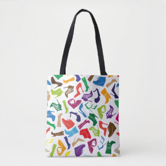 Pattern colorful Women's shoes Tote Bag