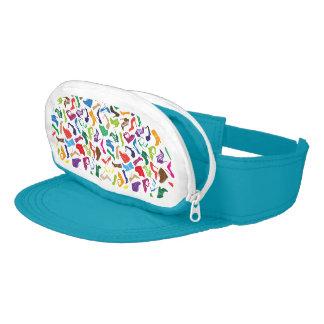 Pattern colorful Women's shoes Visor