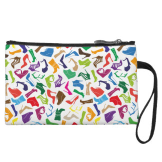 Pattern colorful Women's shoes Wristlet Wallet