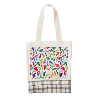 Pattern colorful Women's shoes Zazzle HEART Tote Bag