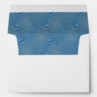 pattern composing aqua envelopes