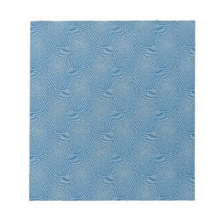 Pattern composing aqua memo pad