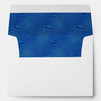 pattern composing blue envelope