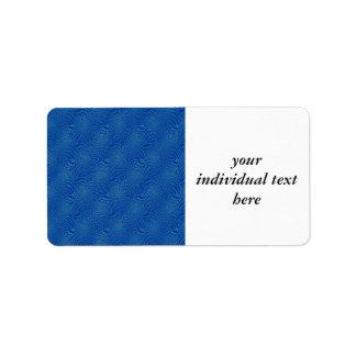pattern composing blue address label
