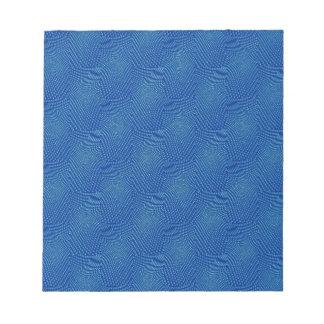 pattern composing,blue memo pad
