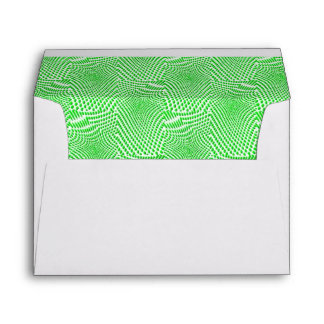 pattern composing green envelopes