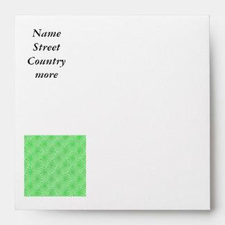 pattern composing green envelope