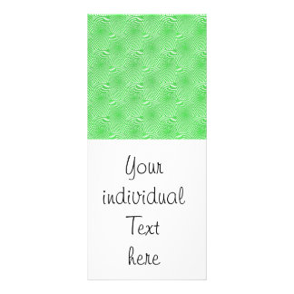pattern composing green full color rack card
