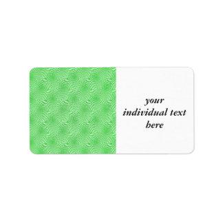 pattern composing green address label