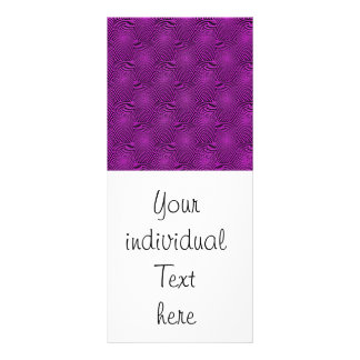 pattern composing, purple full color rack card