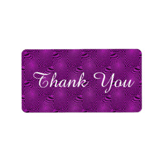 pattern composing, purple personalized address labels