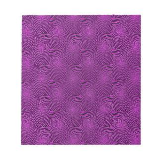 pattern composing purple note pad