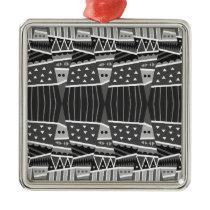 pattern cool metal ornament