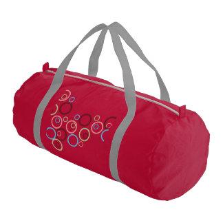 pattern custom personalized circles colorful gym duffel bag