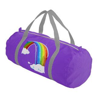 pattern custom personalized rainbow colorful gym duffel bag