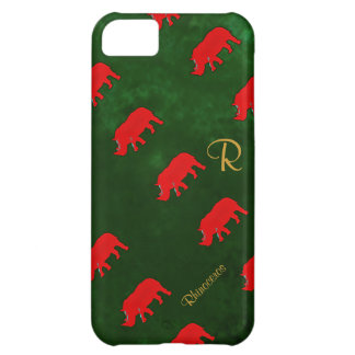 pattern cute rhinos iPhone 5C cover