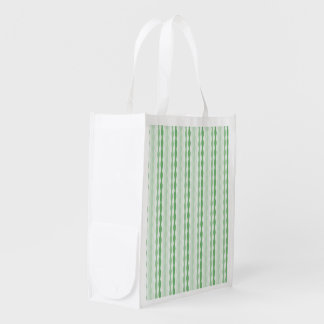 Pattern Derenade green v Reusable Grocery Bag