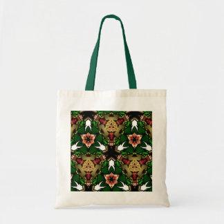 Pattern designs budget tote bag