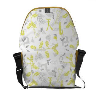 pattern displaying baby animals 2 courier bag