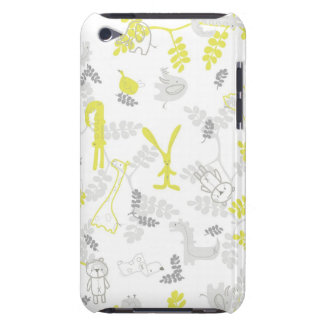 pattern displaying baby animals 2 iPod touch cover