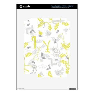 pattern displaying baby animals 2 skin for iPad 3