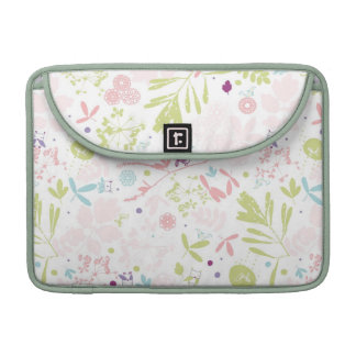 pattern displaying floral sleeves for MacBook pro