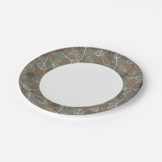 Pattern displaying leaves 7 inch paper plate