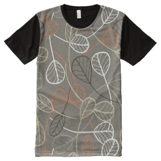 Pattern displaying leaves All-Over print t-shirt