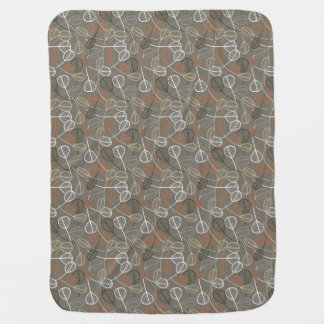 Pattern displaying leaves baby blankets