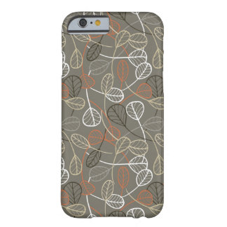 Pattern displaying leaves barely there iPhone 6 case