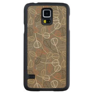 Pattern displaying leaves carved® maple galaxy s5 slim case
