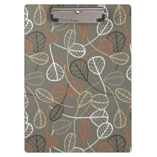Pattern displaying leaves clipboards
