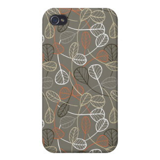 Pattern displaying leaves iPhone 4 case