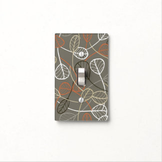 Pattern displaying leaves light switch plate